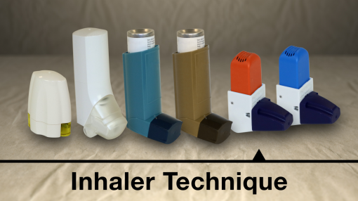 Image showing the types of inhalers available to children with Asthma
