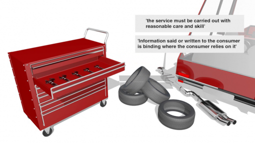 Image with quotes to highlight the level of standards that must be met by the person or business selling the service