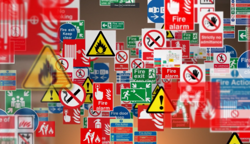 Signage is a very important factor in preventing a fire and even saving lives.