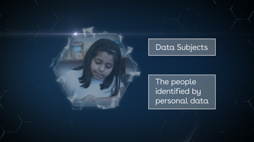 An image representing a child who is a data subject under the GDPR