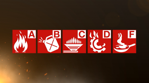 Different classes of fire