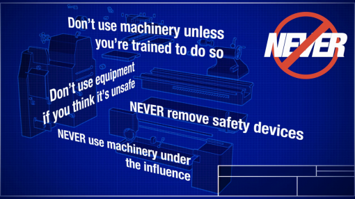 You will be given the knowledge needed to prevent accidents occurring in the workshop