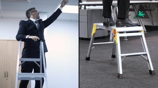 Man on step ladder