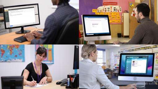 Teachers recording concerns of safeguarding